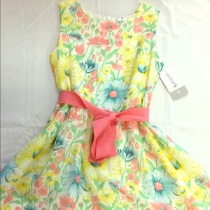 Carters flower dress 6 NWT